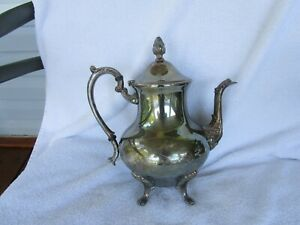 High Quality Vintage Sheridan Silver Plate Coffee Tea Pot Clean Inside