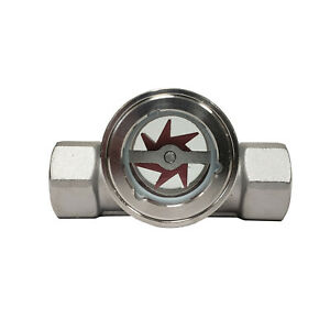 Sight Flow Indicator By Prm 2 Fnpt 304 Stainless Steel Ptfe Seal And Impeller