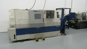 Used 2005 Doosan Daewoo Puma 240 c Cnc Turning Center Lathe Fanuc Tailstock 10