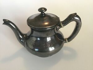 Reed Barton 1 Portion Silver Soldered Coffee Pot Teapot From The Saddle Hotel