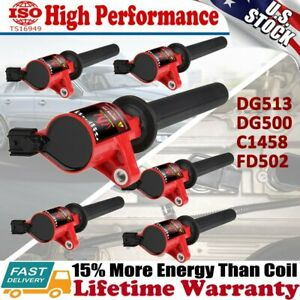 High Performance Ignition Coil 6 Packs For Ford Escape Taurus Mazda 3 0l V6 Red