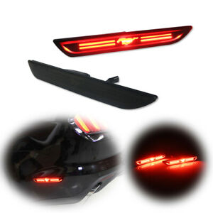 For 2015 2021 Ford Mustang Black Lens Rear Side Marker Sidemarker Lights Led Kit