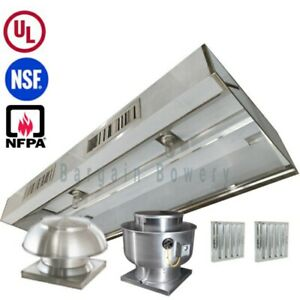 13 Ul 13 Ft Restaurant Commercial Kitchen Exhaust Hood With Make Up Air System