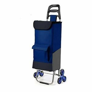 Step Up Foldable Grocery Shopping Cart Dolly Stair Climber Utility Trolley Tot