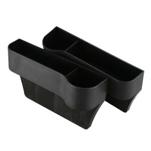 2 X Car Seat Space Catcher Organiser Storage Box Pocket W Cup Holder Side R9a9