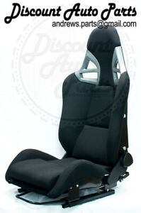 Porsche 997 Style Gt3 Reclining Seats In Black Cloth W Frp Backing Gt2 911 Rsr