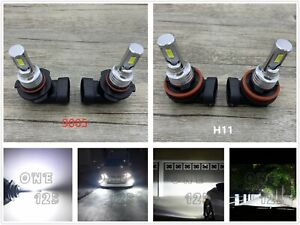 9005 H11 Combo Cree Led Headlight Bulbs Kit High Low Beam 6000k White 40w 7000lm