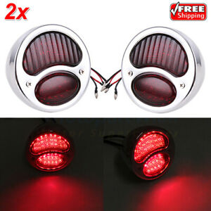 2x Model A Stop Taillight Tail Brake Light Lamp Red Rat Rod Truck For Ford 28 31