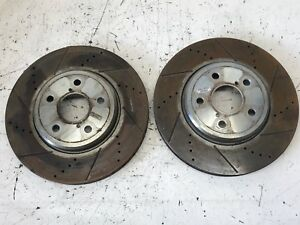 01 06 Lexus Ls430 Front Brake Rotors Slotted Drilled Used