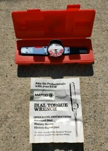 Matco Dial Torque Wrench Twbdi250 W Case Operating Manual New