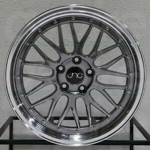 4 New 18 Jnc 005 Jnc005 Wheels 18x8 5x112 34 Hyper Black Machine Lip Rims
