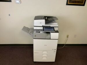 Ricoh Mp 2555 B w Copier Machine Network Print Scanner Copy Fax Finisher