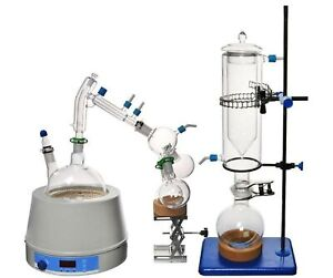 Short Path Distillation Set With Cold Trap 2000 Ml glassware Only