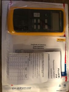 New Fluke 714 Thermocouple Calibrator With Certificate Of Calibration