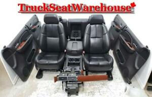 Chev Silverado 2013 Black Leather Truck Seats Interior Gmc Sierra