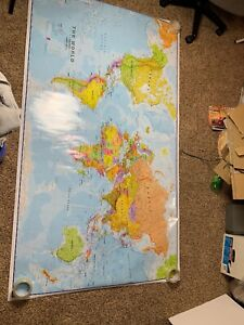 Classroom Map The World 77in X 44in 1996 Maps International
