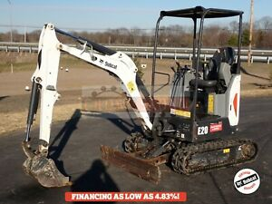 2017 Bobcat E20 Mini Excavator Orops 2 Speed 460 Hrs Aux Hydraulics 13 9 Hp