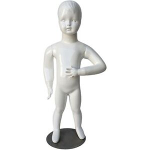 Mn 534 Glossy White Abstract Standing Baby Toddler Mannequin 30 5 Tall 6 9 Mo