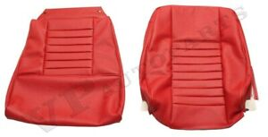 Volvo P1800 64 70 Red Front Rear Seat Cover Kit Made In Sweden 691037 38