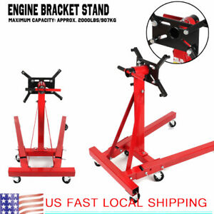 Foldable Engine Bracket Stand Hoist Engine Maintenance Support 2000lbs 907kg
