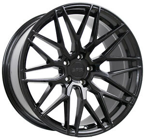 4 New 18 F1r F103 Wheels 18x8 5 18x9 5 5x114 3 38 38 Gloss Black Staggered Rims