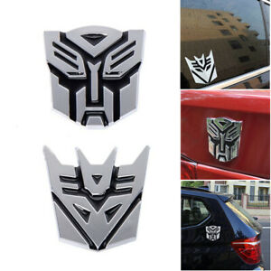 Transformers Autobots Decepticons 3d Emblem Badge Graphics Decal Car Sticker