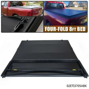 4 Fold Tonneau Cover 8ft Long Bed Fit For Dodge Ram 1500 2500 3500 2002 2018