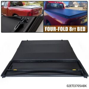 4 fold Soft Tonneau Cover 8ft Long Bed For Dodge Ram 1500 2500 3500 2002 2018