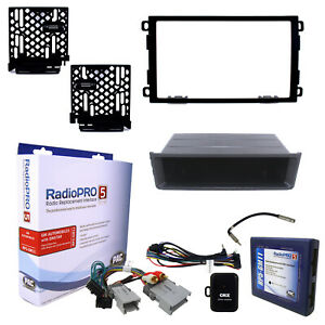 Radio Replacement Interface With Single Double Din Dash Mounting Kit Fits Gm