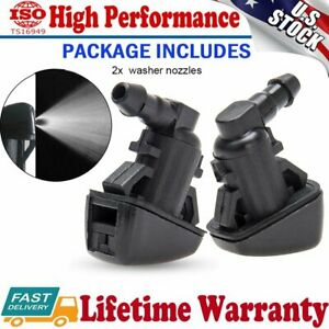 2pcs Windshield Wiper Washer Jet Nozzle For 2008 2009 2010 Ford F250 350 450 550