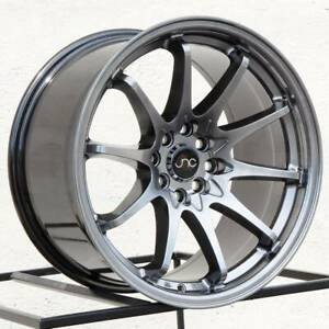 4 New 18 Jnc 006 Jnc006 Wheels 18x8 5 18x9 5 5x120 35 35 Hyper Black Staggered
