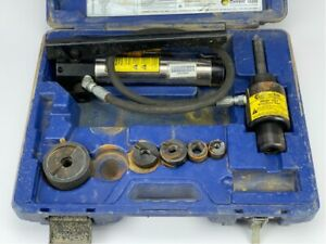 Current Tools 152 Pm 1 2 2 Hydraulic Knock Out Set Missing 1 1 2 Punch