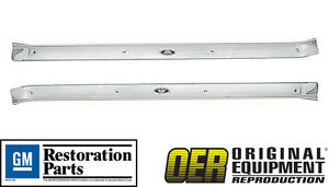 Oer 1971 1976 Impala Caprice 2 Door Sill Scuff Plates pair Gm Licensed Part
