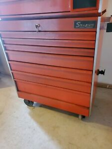 Vtg Snap On Tools Kra Red Tool Chest Box Cabinet Usa W Keys
