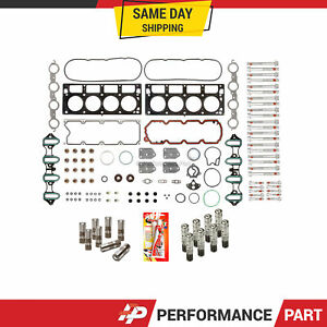 Head Gasket Set Bolts Lifters For 05 14 Gmc Buick Cadillac Chevrolet 4 8 5 3 Afm