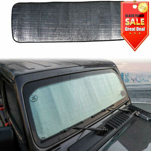 Windshield Sunshade For Jeep Wrangler Jl Jlu Jt 2018 Sun Shade Heat Visor Mat
