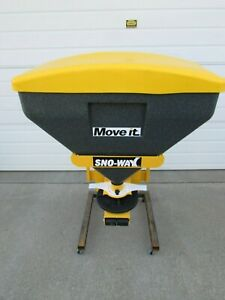 New Snoway Sno way Poly Tailgate Salt Spreader Kit 6 Cubic Ft 2 Receiver