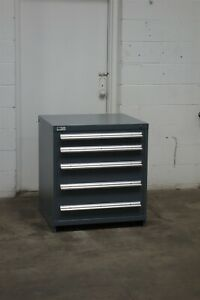 Used Vidmar 5 Drawer Cabinet 33 High Industrial Bench Height Storage 1881