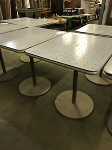 Industrial Cafe Tables 16 Available Salvage Steel Unique Good For Outdoor Sturdy