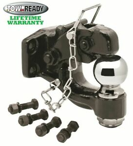 Tow Ready Pintle Hitch Hook Ball 16000 Lbs W 2 5 16 14k Trailer Ball