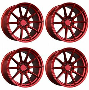 4 New 18 Xxr 567 Wheels 18x8 5 18x9 5 5x100 5x114 3 20 20 Candy Red Staggered R