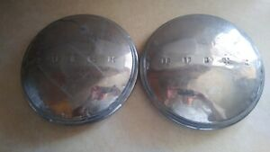 2 1940 s Buick Dog Dish Poverty Hub Cap Wheel Cover Original Made In U s a D