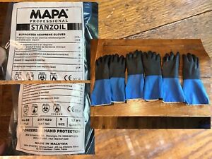 Mapa Stanzoil Nl 52 Size 9 Lg Supported Heavy Duty Neoprene Gloves Lot 3 Pair