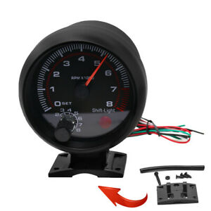 New 3 75 Universal Car Tachometer Gauge 8000 Rpm High Speed Led Shift Light 12v