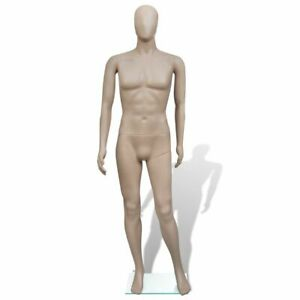 Full body Mannequin Man Round Head With A Glass Base
