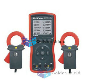 Etcr4200a Intelligent Double Clamp Digital Phase Volt ampere Meter New