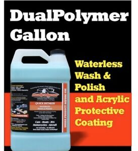 Dual Polymer Waterless Car Wash 1 Gallon And One Tire Trim