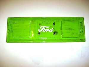 Vintage 1950 s Ford Truck Metal Tailgate Replica Wall Mount Hand Built Green