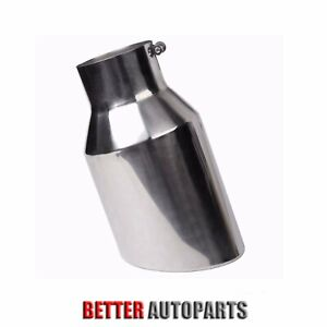 4 Inlet 7 Outlet 15 Long Diesel Stainless Steel Bolt On Exhaust Tip Silver