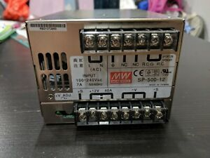 Sp 500 12 Mean Well Ac To Dc Power Supply 100 240v Ac Input 12v 40a Dc Output